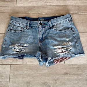 Old Navy Denim Shorts Distressed Size 6
